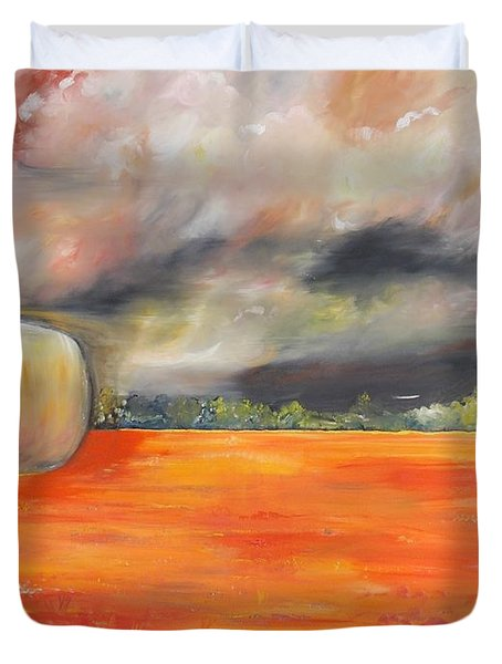 Duvet Cover featuring the painting Midwest Grandeure by PainterArtist FIN