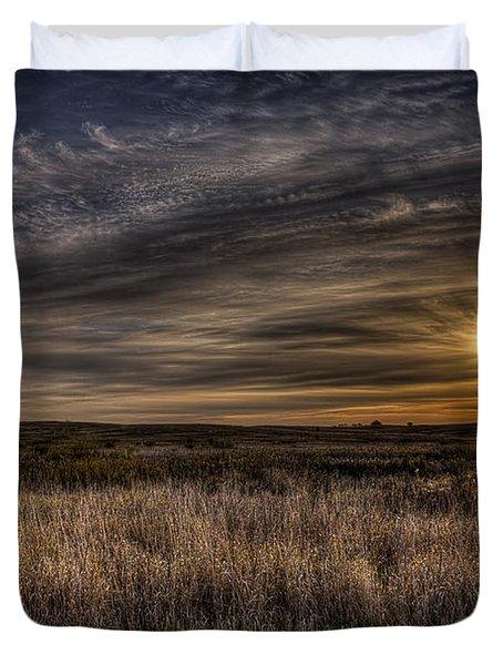 Midwest Sunrise Duvet Cover by Jeff Burton