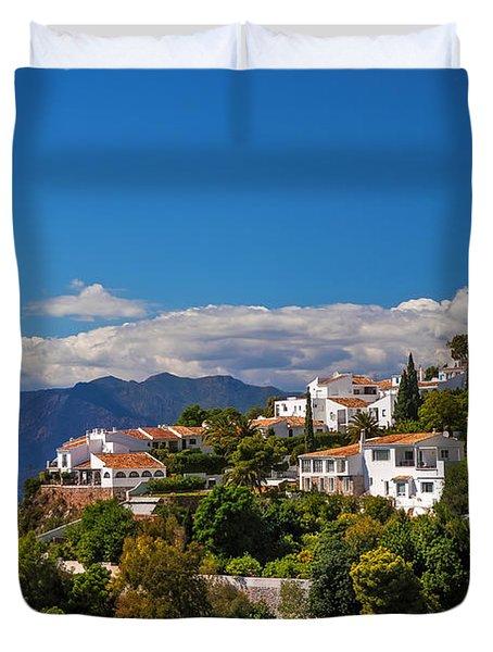 Mijas. White Village Of Spain Duvet Cover by Jenny Rainbow