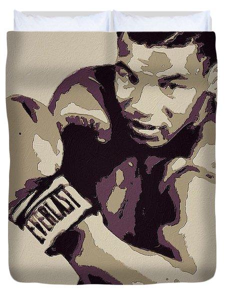 Mike Tyson Poster Art Duvet Cover by Florian Rodarte