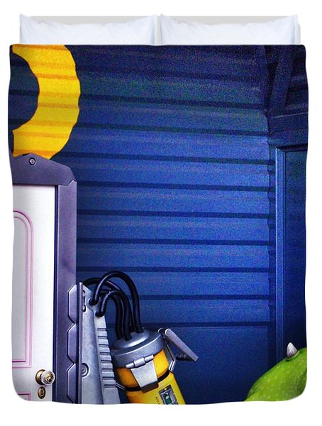 Mike With Boo's Door - Monsters Inc. In Disneyland Paris Duvet Cover by Marianna Mills