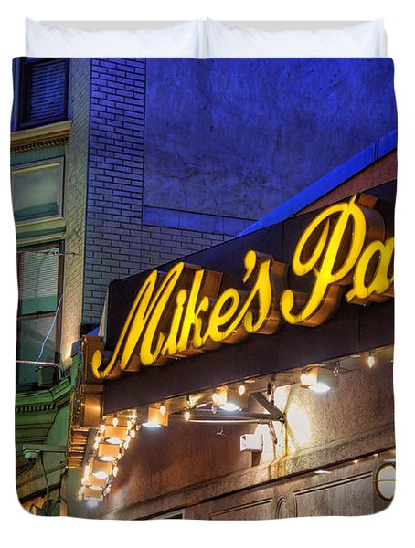 Mike's Pastry Shop - Boston Duvet Cover by Joann Vitali