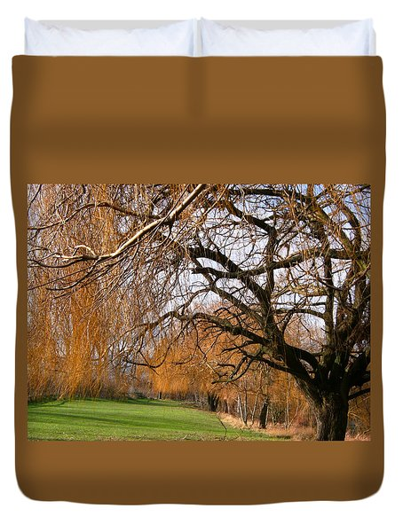 Duvet Cover featuring the photograph Mild Winter In Mayesbrook Park - Dagenham by Mudiama Kammoh