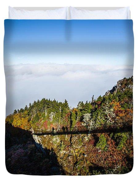 Mile High Bridge Duvet Cover by John Haldane