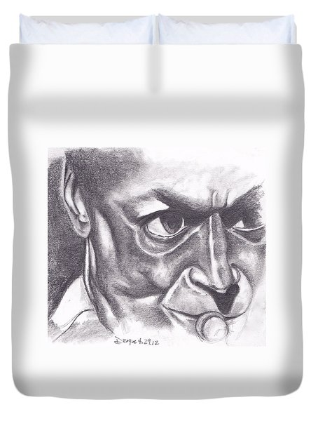 Miles At Work Duvet Cover by Dallas Roquemore