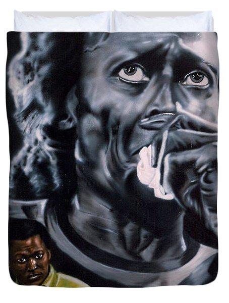 Miles Davis Jazz King Duvet Cover