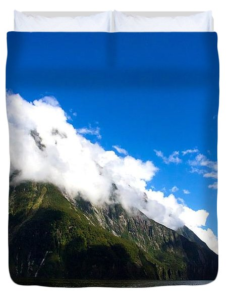 Duvet Cover featuring the photograph Milford Sound #2 by Stuart Litoff