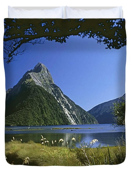 Milford Sound  New Zealand Duvet Cover by Rudi Prott