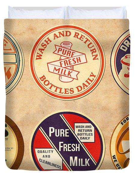Milk Bottle Tops Duvet Cover