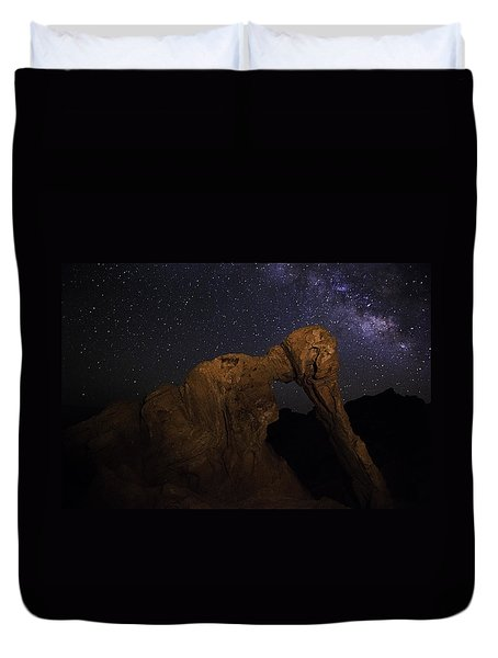 Milky Way Over The Elephant 2 Duvet Cover