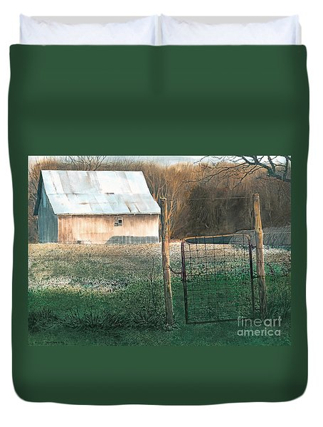 Milking Time Duvet Cover