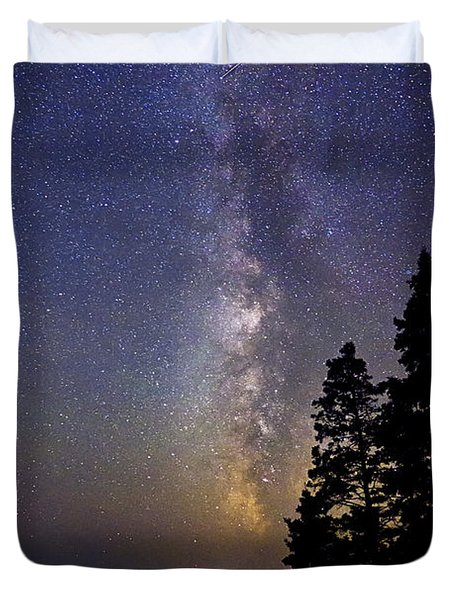 Milky Way At Acadia National Park Duvet Cover by John Vose
