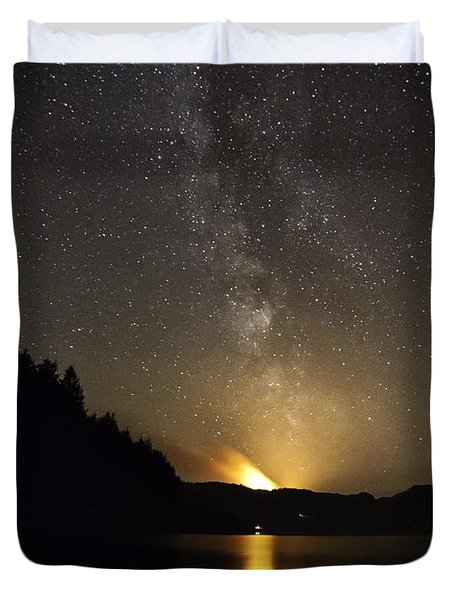Milky Way At Crafnant 2 Duvet Cover