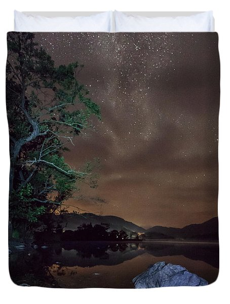 Milky Way At Gwenant Duvet Cover