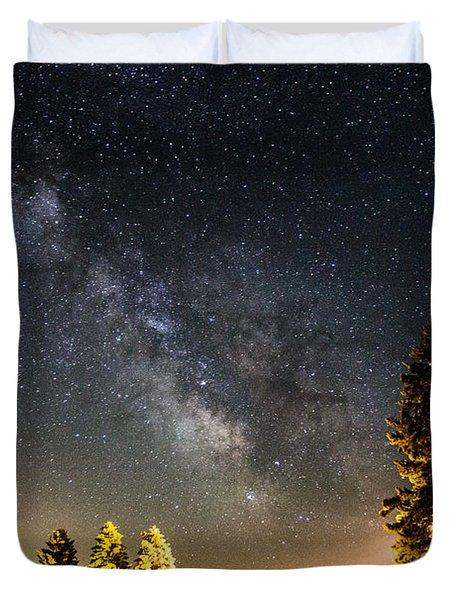 Milky Way From Oldham South Dakota Usa Duvet Cover