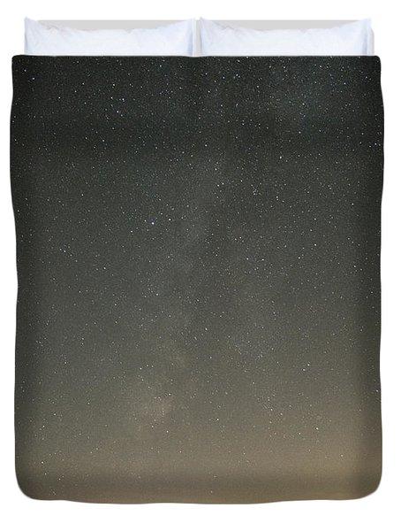 Milky Way Spills Into Conesus Duvet Cover