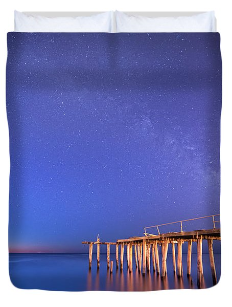 Milky Way Sunrise Duvet Cover