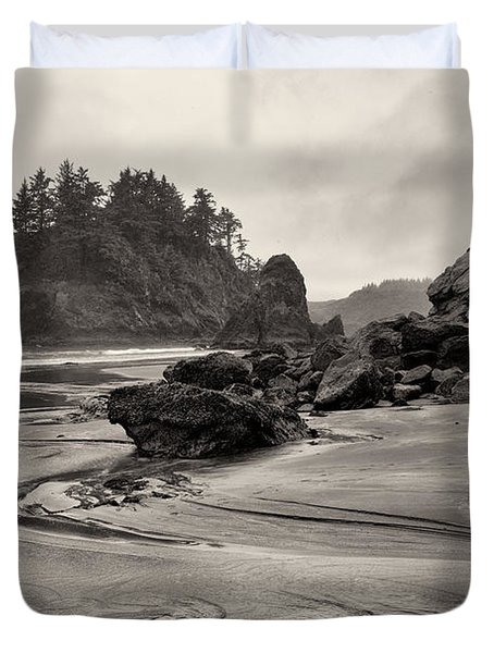 Mill Creek And Pewetole Island At Trinidad State Beach Duvet Cover