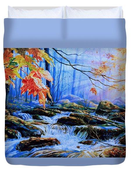 Mill Creek Autumn Sunrise Duvet Cover