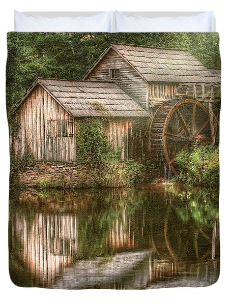 Mill On The Blue Ridge  Duvet Cover by Darren Fisher