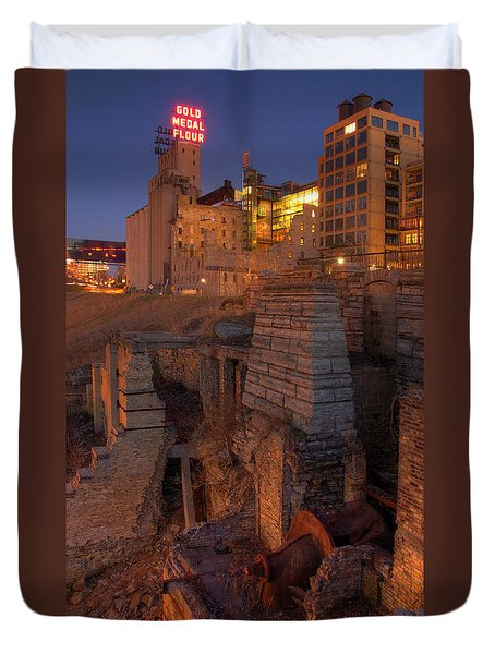 Mill Ruins Park Duvet Cover by Kent Taylor