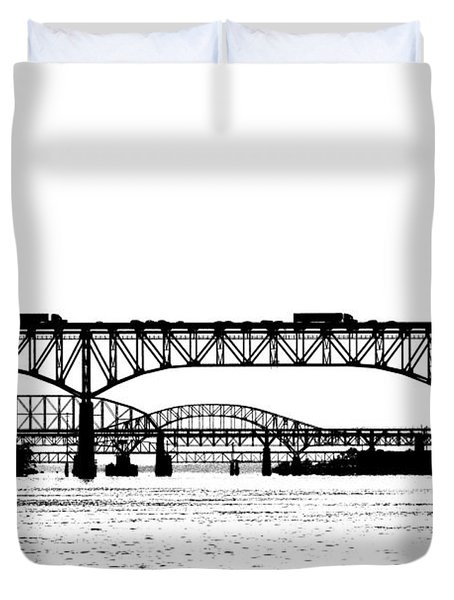 Millard Tydings Memorial Bridge Duvet Cover