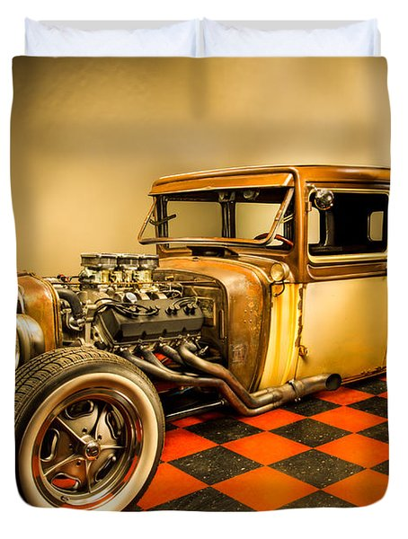 Millers Chop Shop 1929 Dodge Victory Six After Duvet Cover by Yo Pedro