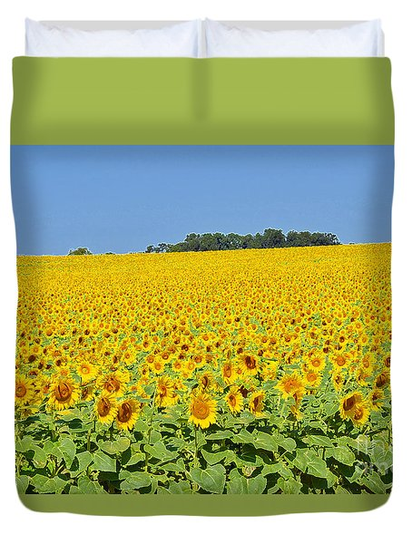 Millions Of Sunflowers Duvet Cover