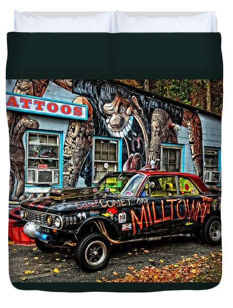 Milltown's Edsel Comet Duvet Cover by Mike Martin
