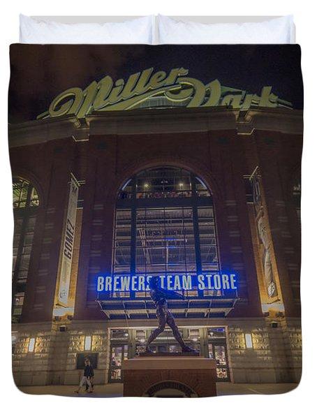 Milwaukee Brewers Miller Park 2 Duvet Cover by David Haskett
