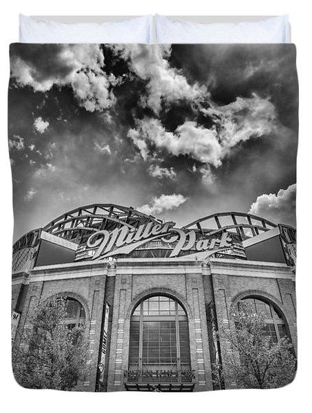 Milwaukee Brewers Miller Park 7 Duvet Cover by David Haskett