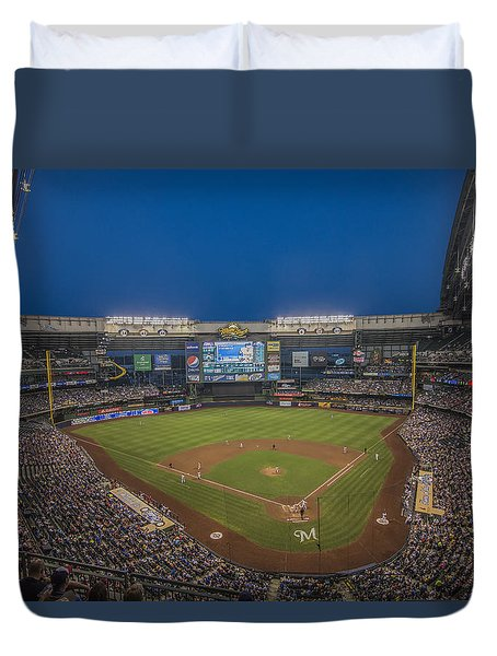 Milwaukee Brewers Duvet Cover by David Haskett