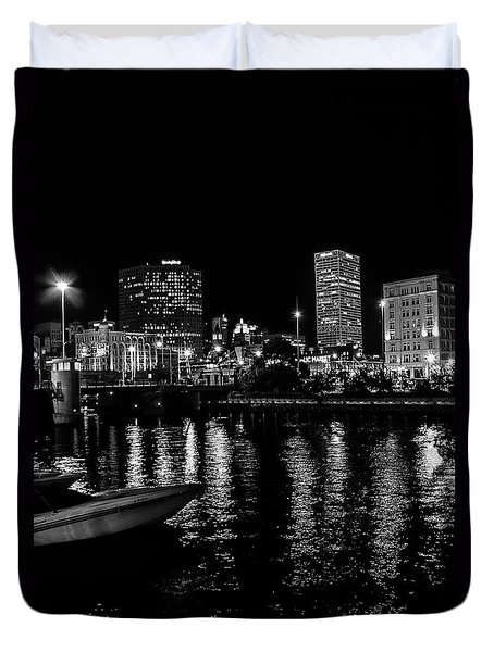 Milwaukee Downtown Third Ward Duvet Cover by Susan  McMenamin