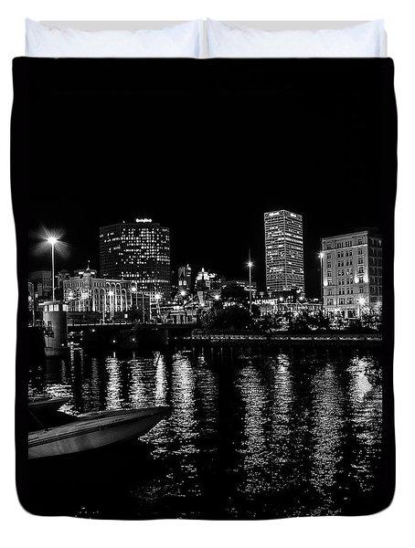 Milwaukee Downtown Third Ward Duvet Cover by Susan  McMenamin
