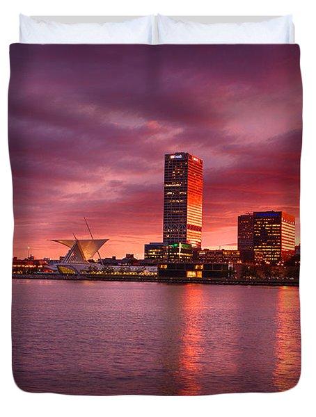 Milwaukee Sunset Duvet Cover