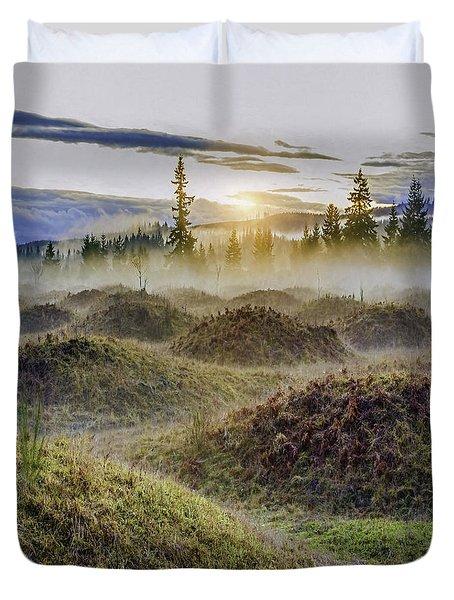 Mima Mounds Mist Duvet Cover
