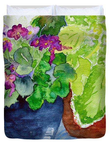Mimi's Violets Duvet Cover