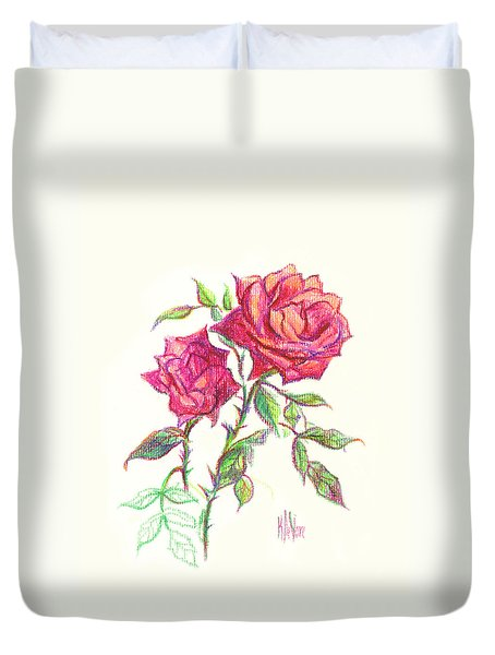 Minature Red Rose Duvet Cover by Kip DeVore