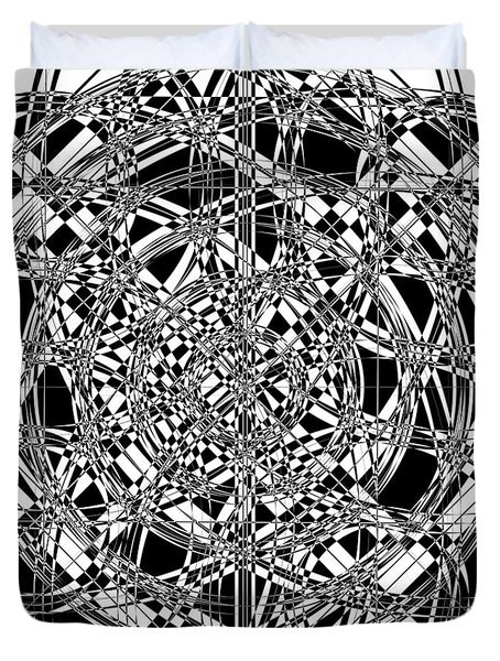 B W Sq 7 Duvet Cover