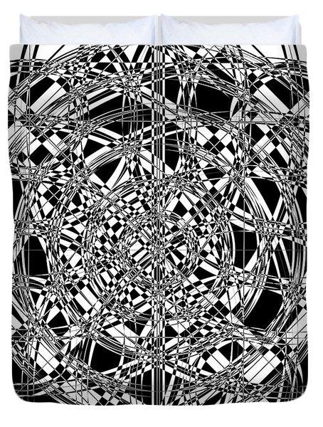 B W Sq 7 Duvet Cover by Mike McGlothlen