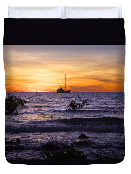Mindil Beach Sunset Duvet Cover by Venetia Featherstone-Witty
