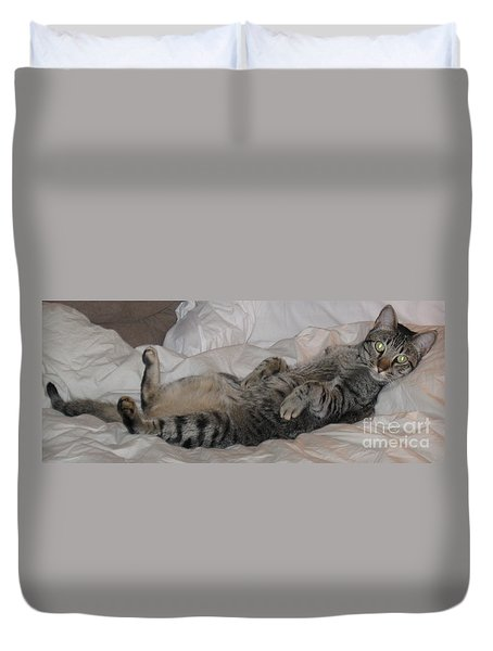 Ming With Slight Attitude Duvet Cover