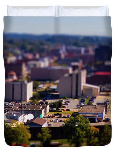 Mini Downtown Parkersburg Duvet Cover by Jonny D