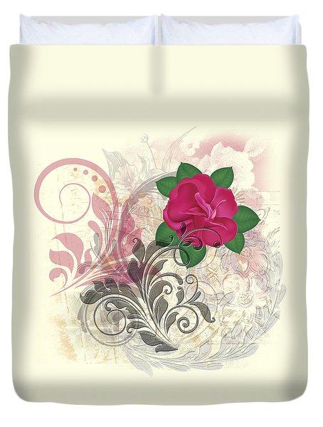 Mini Rose Flourish Duvet Cover