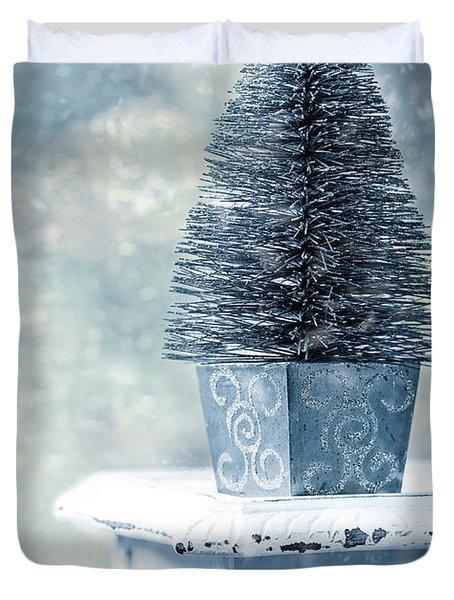 Miniature Christmas Tree Duvet Cover by Amanda Elwell