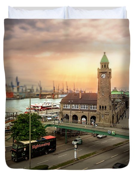 Miniature Hamburg Duvet Cover