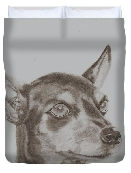 miniature pinscher Tronter Duvet Cover