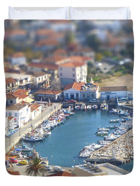 Duvet Cover featuring the photograph Miniature Port by Vicki Spindler