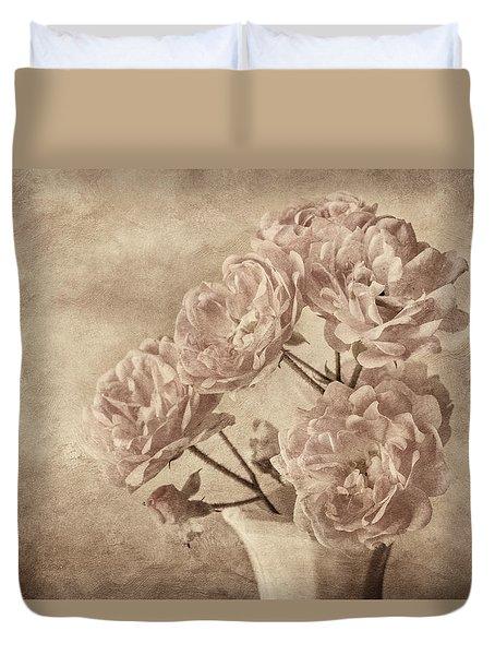 Miniature Rose Bouquet Duvet Cover