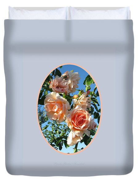 Duvet Cover featuring the photograph Blue Skies And Roses by Brooks Garten Hauschild